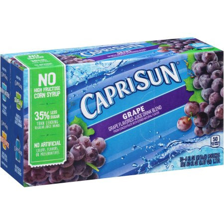 Capri Sun Grape Juice Drink, 6 fl oz, 10 count