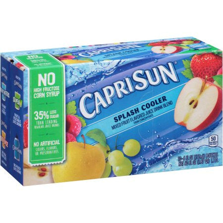 Capri Sun Splash Cooler Juice Drink, 6 fl oz, 10 count