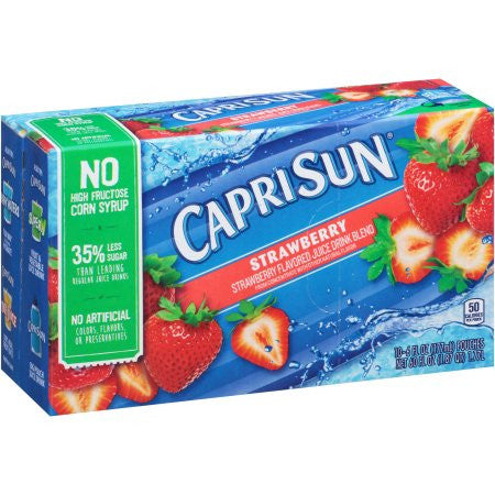 Capri Sun Strawberry Juice Drink, 6 fl oz, 10 count