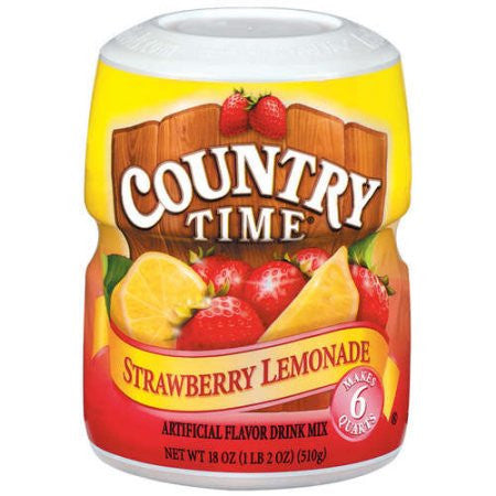 Country Time Strawberry Lemonade Drink Mix, 18 oz