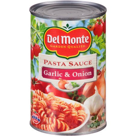 Del Monte Garlic & Onion Pasta Sauce, 24 oz