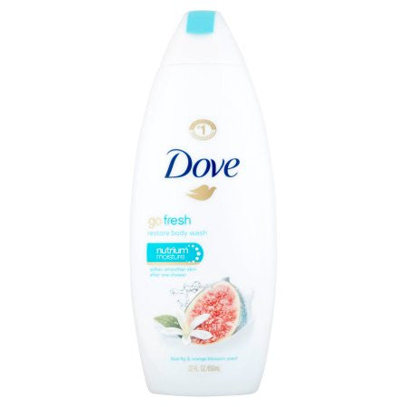 Dove Go Fresh Restore Body Wash Blue Fig & Orange Blossom Scent, 22 fl oz
