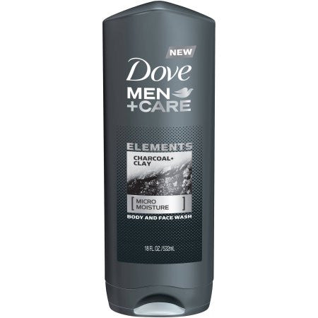 Dove Men+Care Elements Charcoal and Clay Body Wash, 18 oz