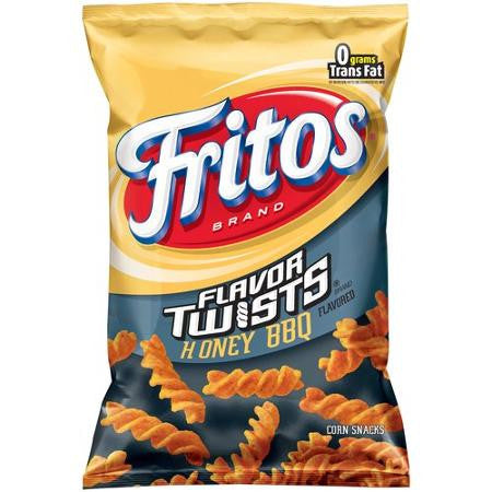 Fritos Flavor Twists Honey BBQ Corn Snacks, 10.5 oz