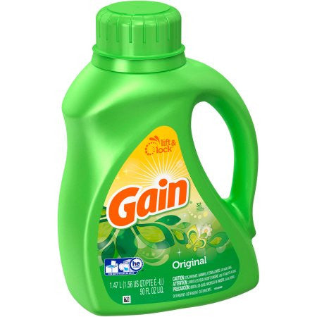 Gain Liquid Laundry Detergent, Original, 50 oz, 32 loads