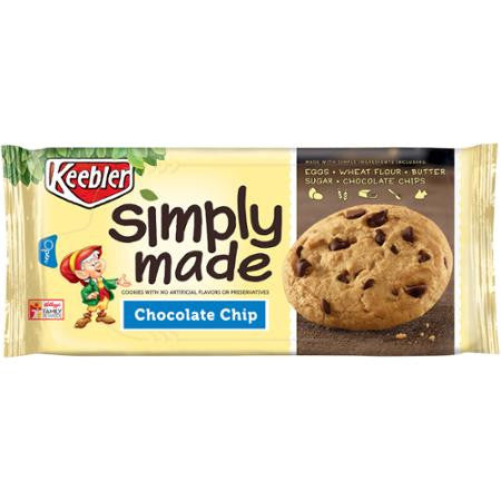 Keebler Simply Made Chocolate Chip Cookies, 10 oz