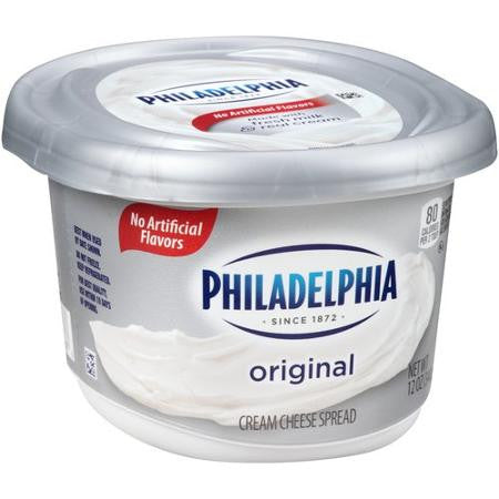 Kraft Philadelphia Original Cream Cheese Spread Tub, 12 oz
