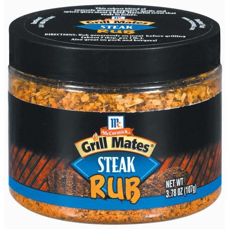 McCormick Grill Mates Steak Rub, 3.78 oz