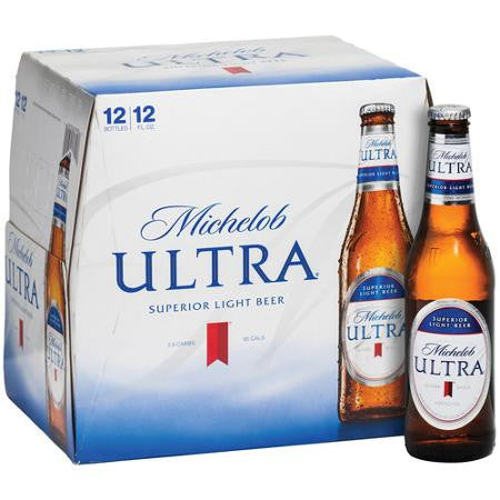 Michelob ULTRA Superior Light Beer, 12 fl oz, 12 pack Bottles
