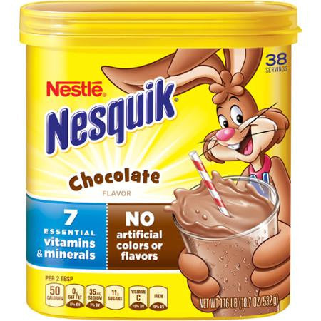 Nestle Nesquik Chocolate Flavor Powder, 18.7 oz