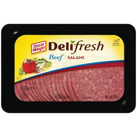Oscar Mayer Deli Fresh, Beef Salami 7 oz tub