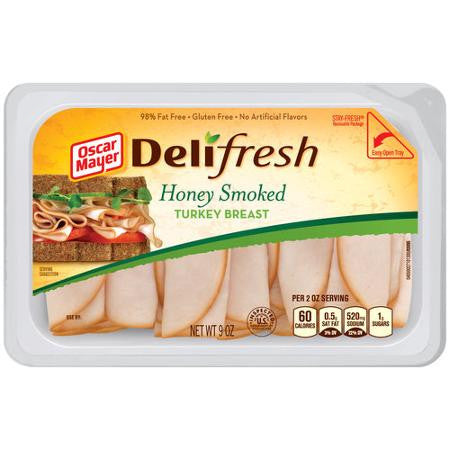Oscar Mayer Deli Fresh Honey Smoked Turkey Breast Lunch Meat, 9 oz