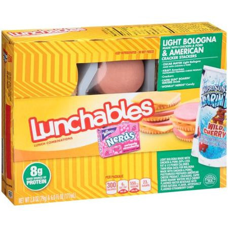 Oscar Mayer Lunchables Light Bologna & American Cracker Stackers, 2.8 oz