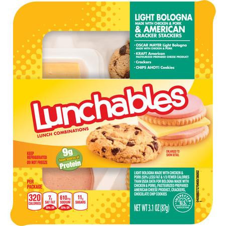 Oscar Mayer Lunchables Light Bologna & American Cracker Stackers, 3.1 oz