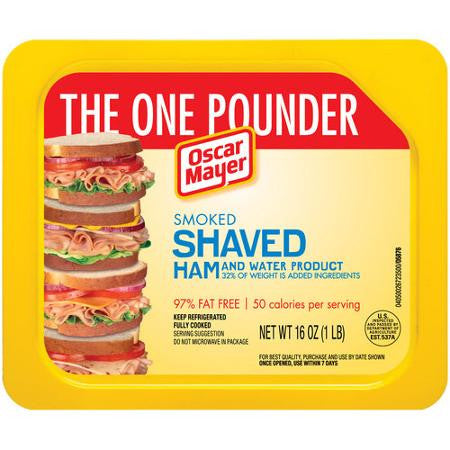 Oscar Mayer, Smoked Shaved Ham 16 oz pkg