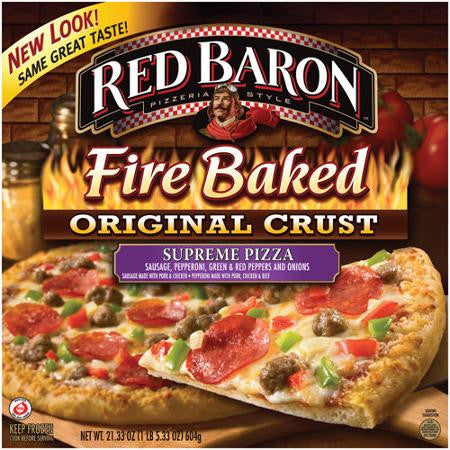 Red Baron: Fire Baked Crust Supreme Pizza, 21.33 Oz
