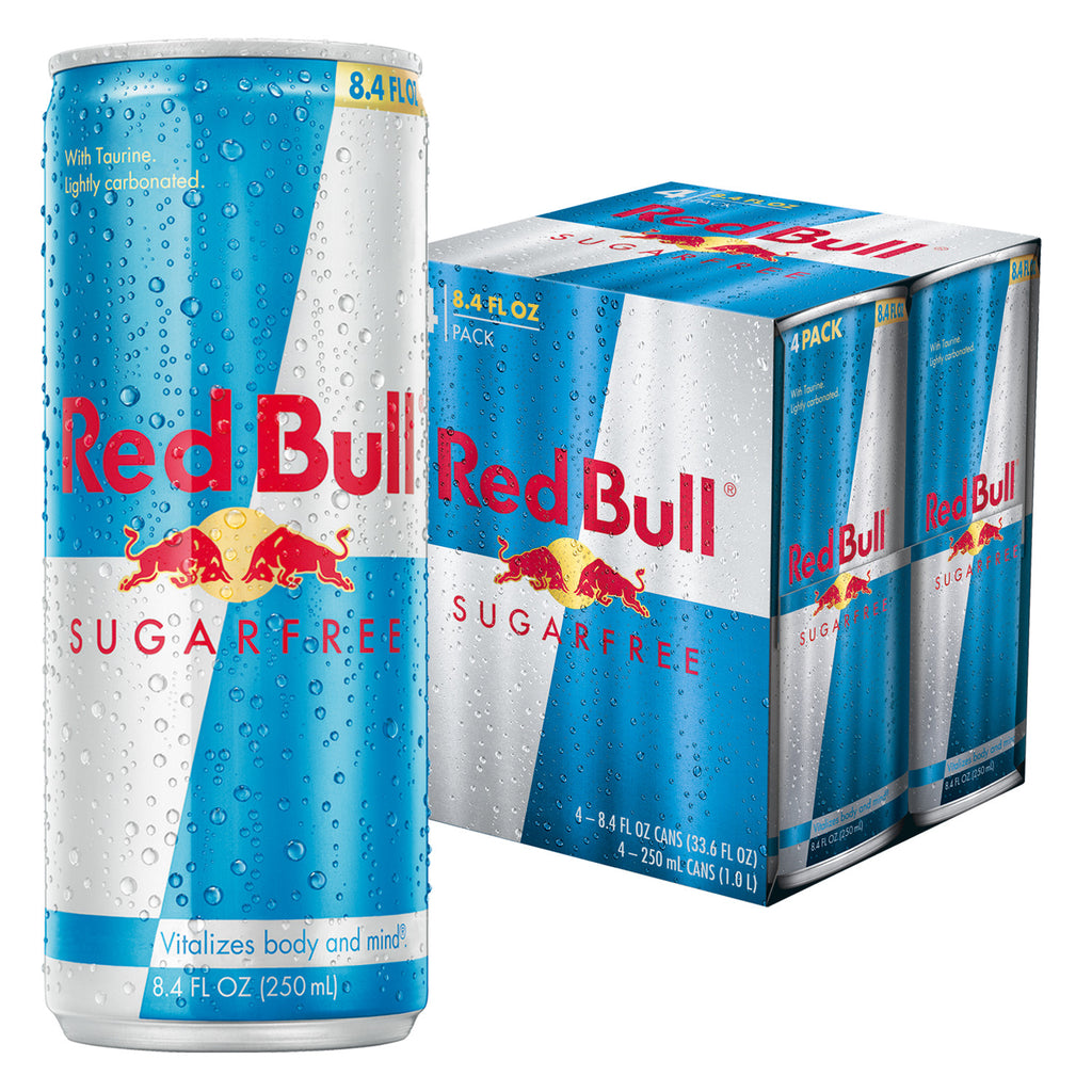 Red Bull Sugarfree, Energy Drink, 8.4 Fl Oz Cans, 4 Pack