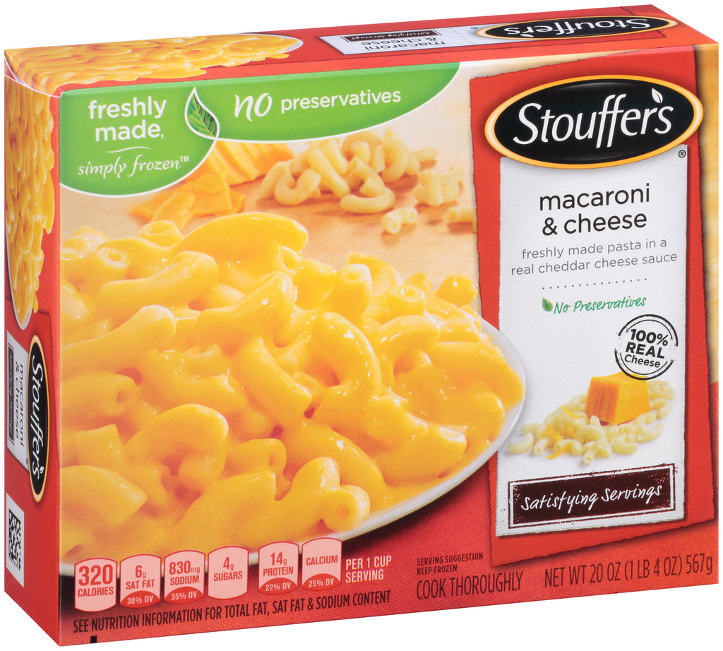 STOUFFER'S Satisfying Servings Macaroni & Cheese 20 oz. Box