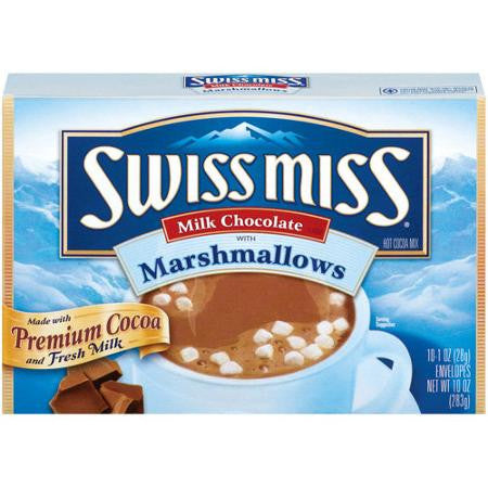 Swiss Miss Milk Chocolate With Marshmallows Hot Cocoa Mix, 10 Ct