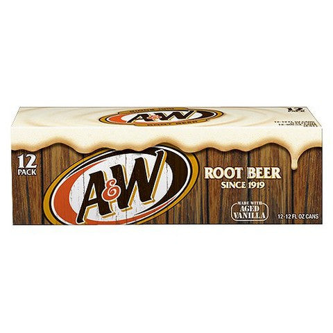 A & W Root Beer, 12 oz, 12pk