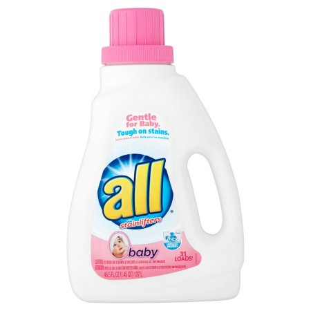 All with Stainlifters Baby Laundry Detergent, 46.5 fl oz