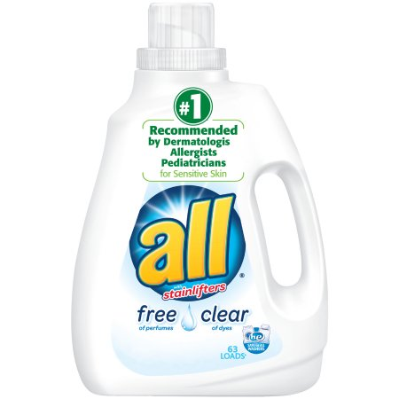 All with Stainlifters Free Clear Liquid Laundry Detergent, 94.5 fl oz