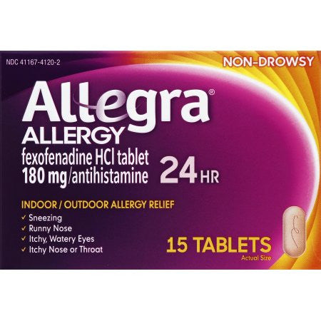 Allegra Allergy 24 Hour Relief, 180 mg, 15 ct