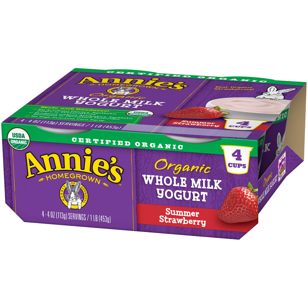 Annie's® ORGANIC  Summer Strawberry Yogurt 4 oz 4 Pk