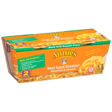 Annie's Homegrown Real Aged Cheddar Macaroni & Cheese, 2.01 oz, 2 ct