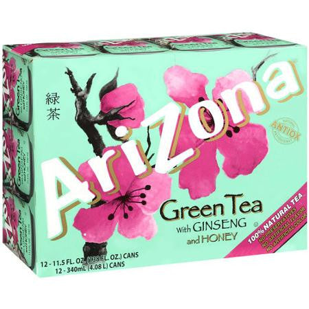Arizona Green Tea with Ginseng and Honey 11.5 oz 12 pk