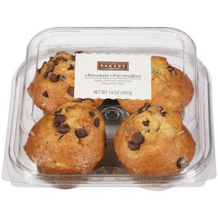 The Bakery Chocolate Chip Muffins, 14 oz