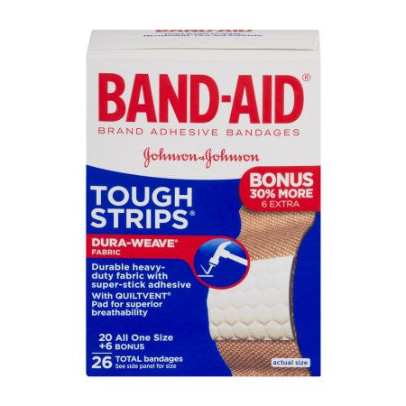 Band-Aid Tough Strips Bandages - 26 CT