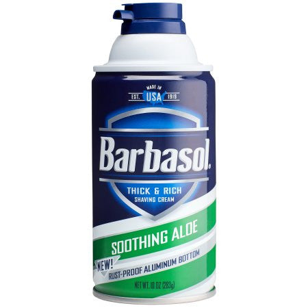 Barbasol Soothing Aloe Thick & Rich Shaving Cream for Men, 10 ounces