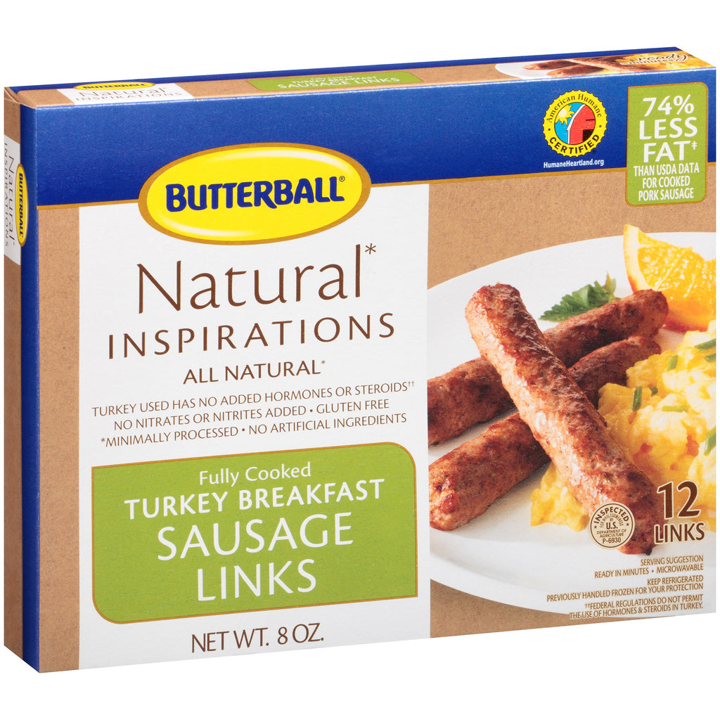 Butterball Fully Cooked Turkey Breakfast Sausage Links, 8 oz