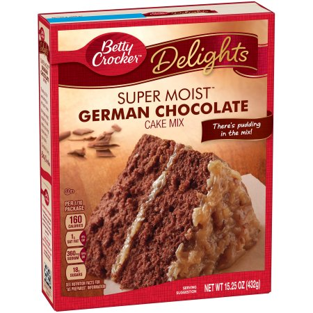 Betty Crocker® Super Moist Cake Mix German Chocolate 15.25 oz Box