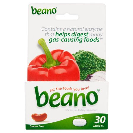 Beano Food Enzyme Dietary Supplement Tablets, 30 count