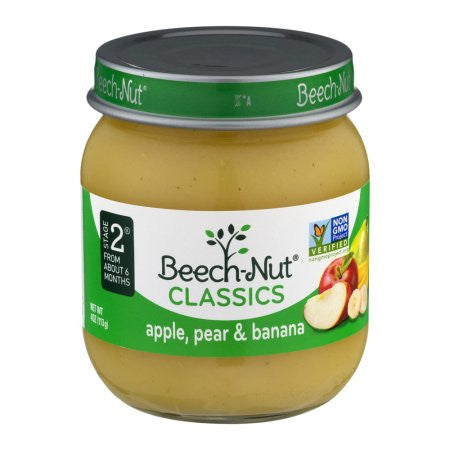 Beech-Nut Stage 2 Apples Pears & Bananas Baby Food, 4 oz