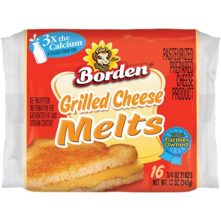 Borden Grilled Cheese Melts Cheese Product, 16 ct
