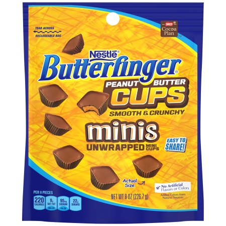 Nestle Butterfinger Peanut Butter Cups Minis Unwrapped Mini Cups, 8 oz