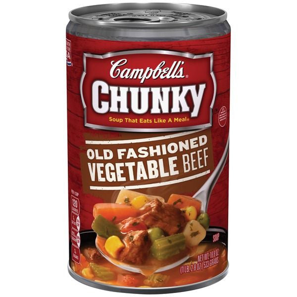 Campbell's Old Fashioned Vegetable Beef Soup 18.8 oz