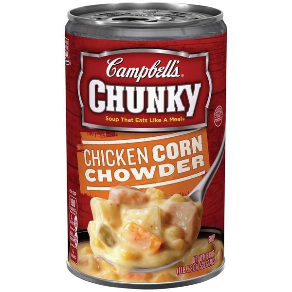 Campbell's Chicken Corn Chowder Chunky, 18.8 oz
