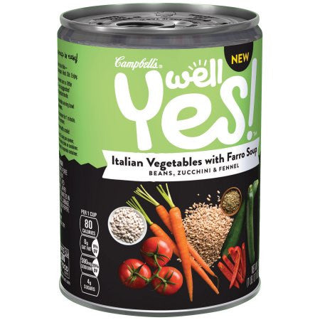 Campbell's Well Yes! Italian Vegetables with Farro Soup 16.1 oz.