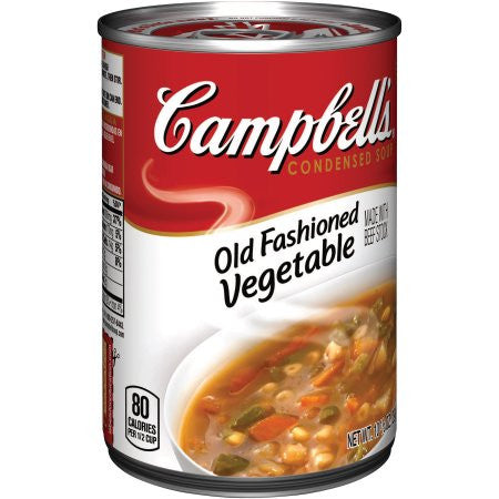 Campbell's Old Fashioned Vegetable Condensed Soup, 10.5 oz