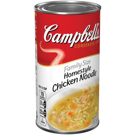 Campbell's Family Size Homestyle Chicken Noodle Condensed Soup, 22.2 oz