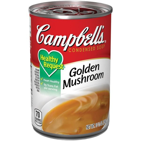 Campbell's Healthy Request Golden Mushroom Condensed Soup, 10.5 oz