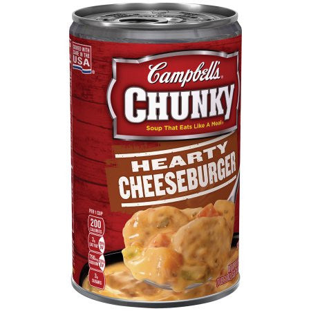Campbell's Chunky Hearty Cheeseburger Soup, 18.8 oz