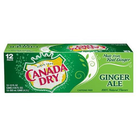 Canada Dry Ginger Ale Cool Pack, 12 oz, 12pk