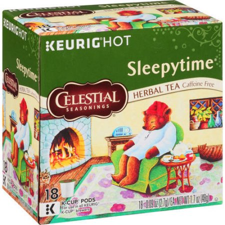 Celestial Seasonings Hot Sleepytime Herbal Tea Coffee Pods, 18 pods