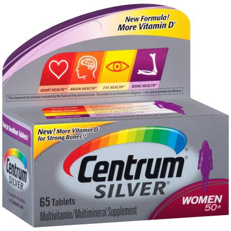 Centrum Silver Women 50+ Multivitamin - Multimineral Supplement Tablets, 65 ct