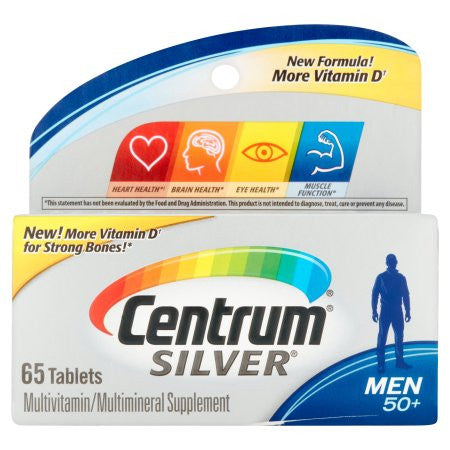 Centrum Silver Men's 50+ Multivitamin - Multimineral Supplement Tablets, 65 ct
